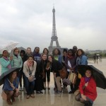 IMG_1074 - Global Awareness France - May 2013 - ASC Backing the Eiffel Tower on a Rainy Evening